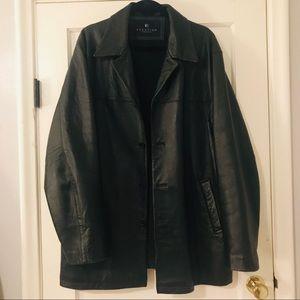 Kenneth Cole Reaction men's leather coat, sz L